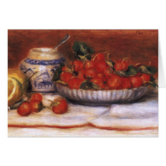 Renoir: Strawberries Card
