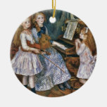Renoir The Daughters of Catulle Mendès Christmas Tree Ornaments