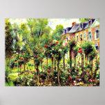 Renoir - The Rose Garden at Wargemont Poster