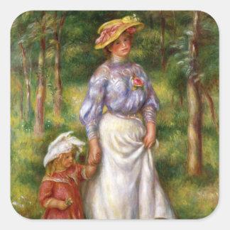 Renoir: The Walk Square Sticker