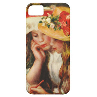 Renoir Two Girls Reading in the Garden iPhone Case