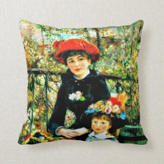 Renoir - Two Sisters on the Terrace Cushion