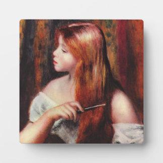Renoir Young Girl Combing Her Hair Plaque