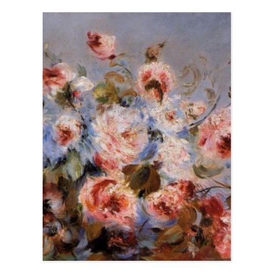 Renoir's A Bouquet of Roses Postcard