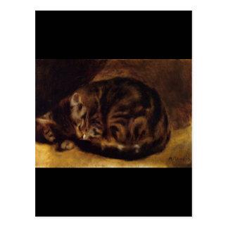 Renoir's A Sleeping Cat Postcard