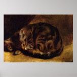 Renoir's A Sleeping Cat Poster