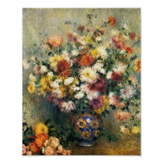 Renoir's A Vase of Chrysanthemums Poster