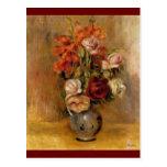 Renoir's A Vase of Gladiolas and Roses Post Card
