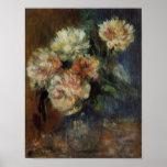 Renoir's A Vase of Peonies Print