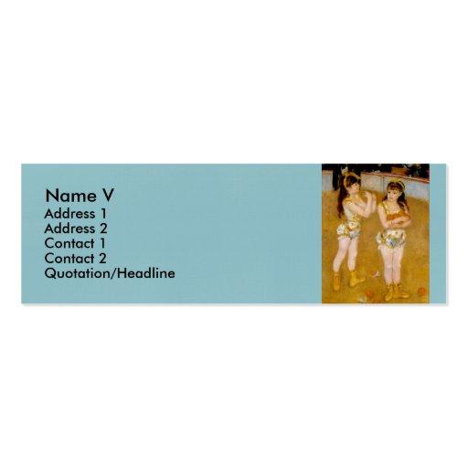 Renoir's Acrobats at the Cirque Fernando (1879) Business Cards