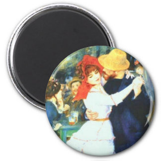 Renoir's Dance at Bougival 6 Cm Round Magnet