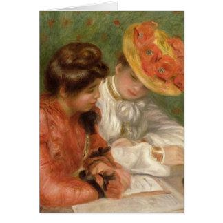 Renoir's Letter Writer Card