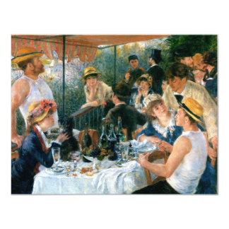 Renoir's Luncheon of the Boating Party (1881) 11 Cm X 14 Cm Invitation Card
