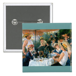 Renoir's Luncheon of the Boating Party (1881) 15 Cm Square Badge
