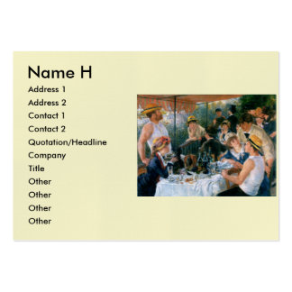 Renoir's Luncheon of the Boating Party (1881) Business Card Templates