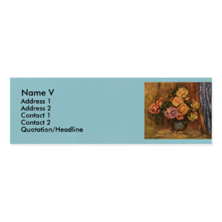 Renoir's Roses in Front of a Blue Curtain (1908) Pack Of Skinny Business Cards