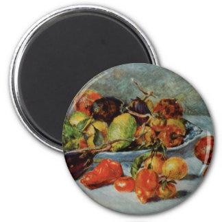 Renoir's Still Life with Mediterranean Fruit, 1911 6 Cm Round Magnet