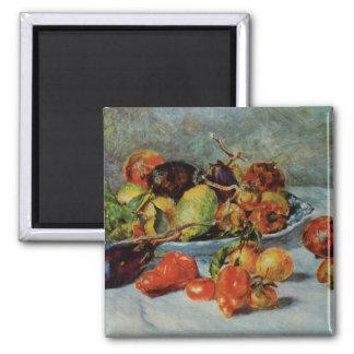 Renoir's Still Life with Mediterranean Fruit, 1911 Square Magnet