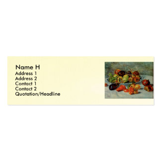 Renoir's Still Life with Mediterranean Fruit, 1911 Pack Of Skinny Business Cards