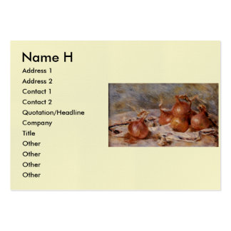Renoir's Still Life with Onions (1881) Pack Of Chubby Business Cards