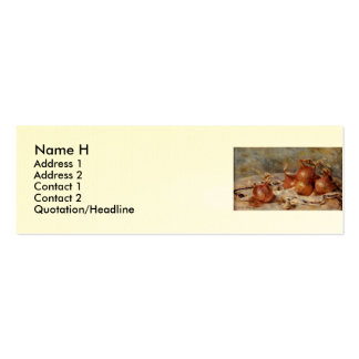Renoir's Still Life with Onions (1881) Pack Of Skinny Business Cards