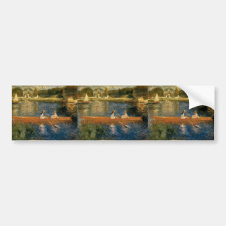Renoir's The Seine at Asnières (The Skiff) ca 1879 Bumper Sticker