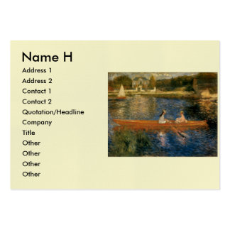 Renoir's The Seine at Asnières (The Skiff) ca 1879 Pack Of Chubby Business Cards