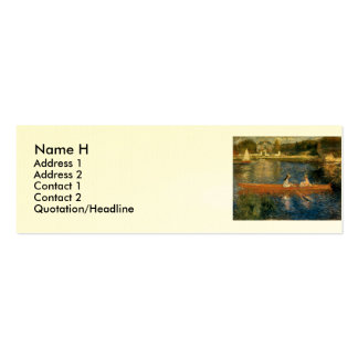 Renoir's The Seine at Asnières (The Skiff) ca 1879 Pack Of Skinny Business Cards