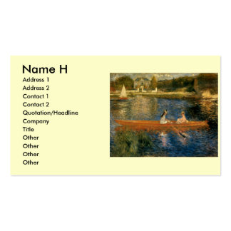 Renoir's The Seine at Asnières (The Skiff) ca 1879 Pack Of Standard Business Cards