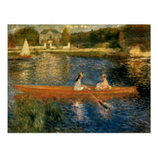 Renoir's The Seine at Asnières (The Skiff) ca 1879 Post Card