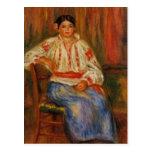 Renoir's Young Romanian Woman Postcard