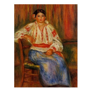 Renoir's Young Romanian Woman Postcard