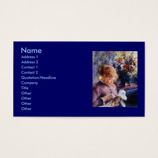 Renoir's Young Woman Sewing Business Card