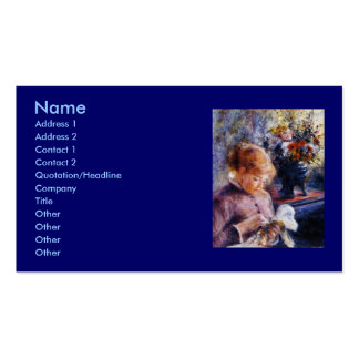Renoir's Young Woman Sewing Pack Of Standard Business Cards
