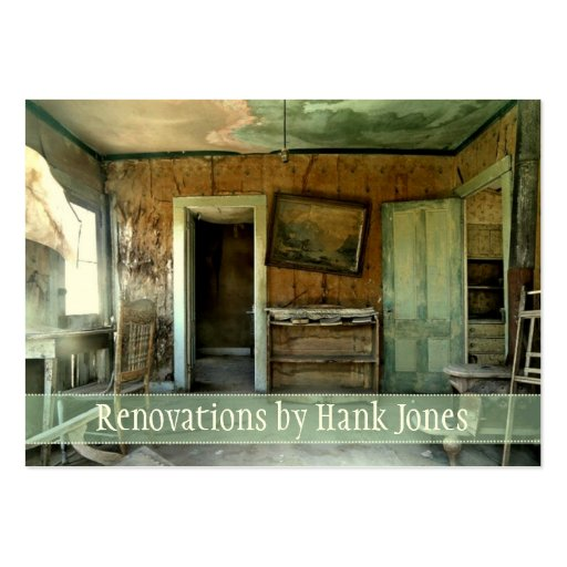 Renovations Old Home Custom Business Card Template
