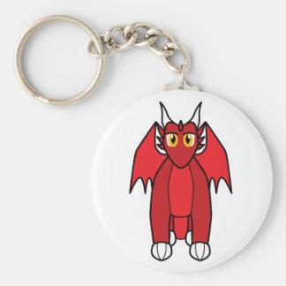Renthmalan the Ruby Dragon Basic Round Button Key Ring