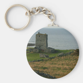 Renvyle Castle In County Galway Ireland Near Tully Basic Round Button Key Ring