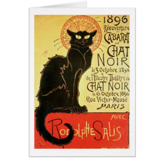 Reopening of the Chat Noir Cabaret, 1896 (colour l Card