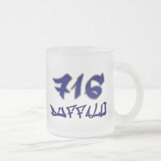 Rep Buffalo (716) Frosted Glass Coffee Mug