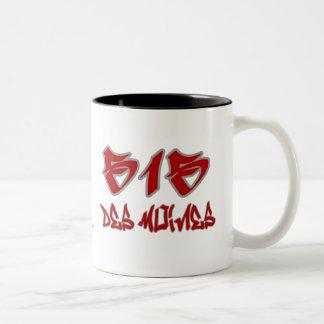 Rep Des Moines (515) Two-Tone Mug