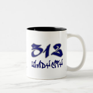 Rep Windy City (312) Two-Tone Mug