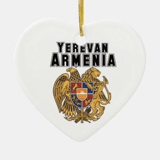 Rep Ya Hood Custom Armenia Ceramic Heart Decoration