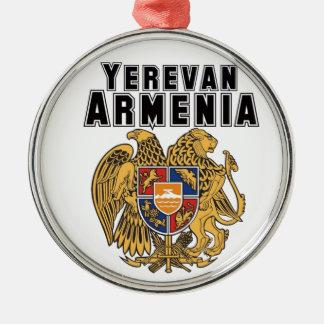 Rep Ya Hood Custom Armenia Round Metal Christmas Ornament