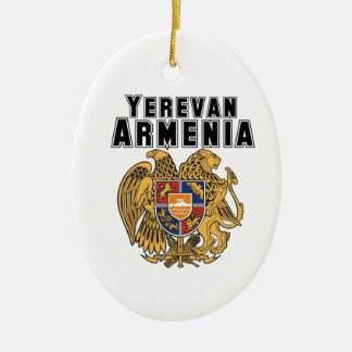 Rep Ya Hood Custom Armenia Double-Sided Oval Ceramic Christmas Ornament