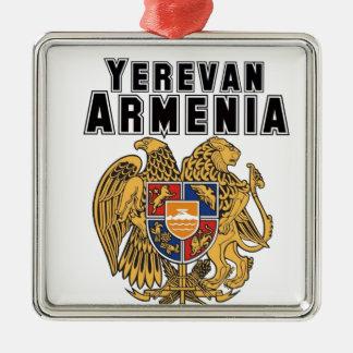 Rep Ya Hood Custom Armenia Silver-Colored Square Decoration