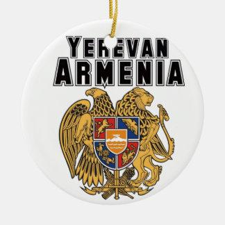 Rep Ya Hood Custom Armenia Round Ceramic Decoration