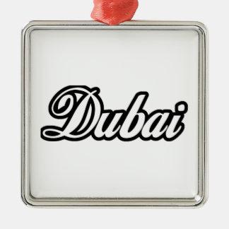 Rep Ya Hood Custom Dubai Silver-Colored Square Decoration