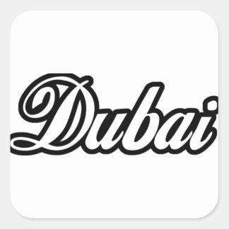 Rep Ya Hood Custom Dubai Square Sticker