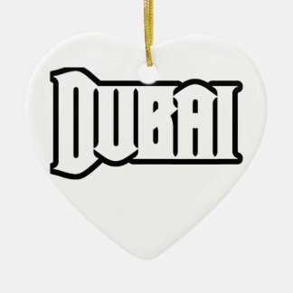 Rep Ya Hood  Custom Dubai, UAE Double-Sided Heart Ceramic Christmas Ornament