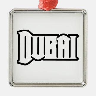 Rep Ya Hood  Custom Dubai, UAE Square Metal Christmas Ornament